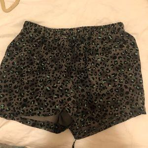 Rebecca Taylor leopard print silk shorts